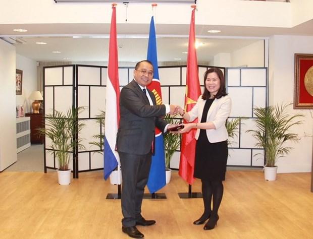 越南驻荷兰大使吴氏和担任驻海牙东盟委员会轮值主席一职 hinh anh 1