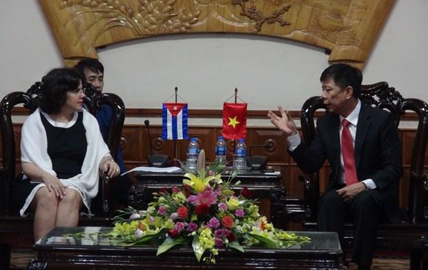 古巴驻越南大使造访广平省 hinh anh 1