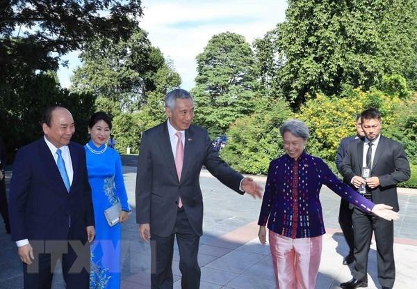 新加坡新闻媒体高度评价阮春福总理访新之行 hinh anh 1