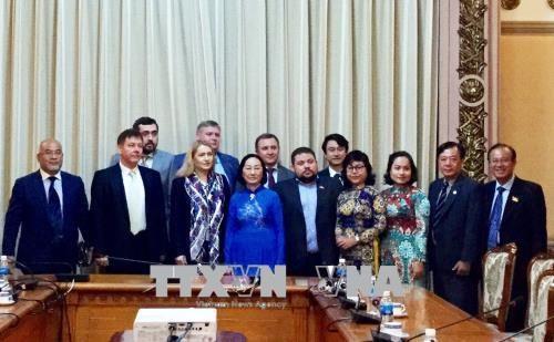 胡志明市领导会见乌克兰与越南友好议员小组主席 hinh anh 2