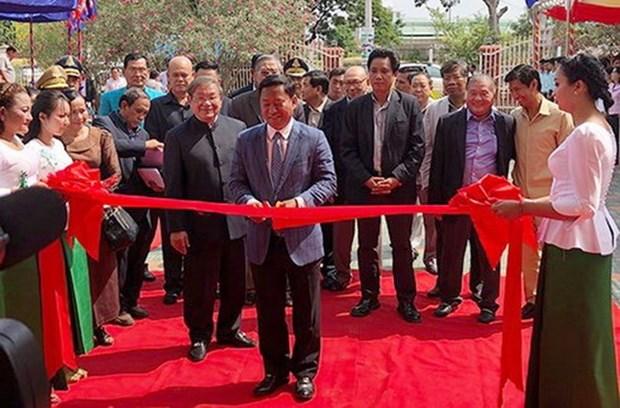 越南援建柬埔寨磅士卑省广播电台工程正式落成 hinh anh 1