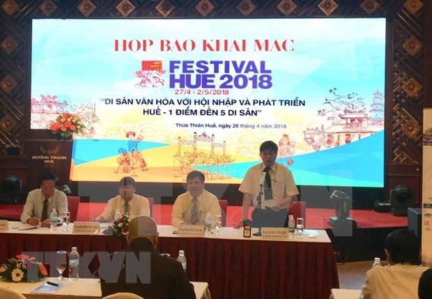 2018年顺化文化节开幕在即 hinh anh 1