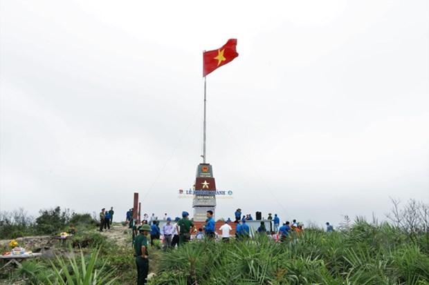 越南广平省罗岛祖国旗台正式落成 hinh anh 2