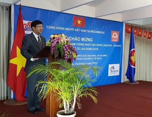 越南解放南方、国家统一43周年纪念活动在中国和莫桑比克举行 hinh anh 2