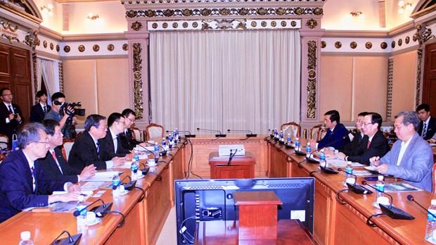 胡志明市与日本堺市加强人力资源领域合作 hinh anh 1