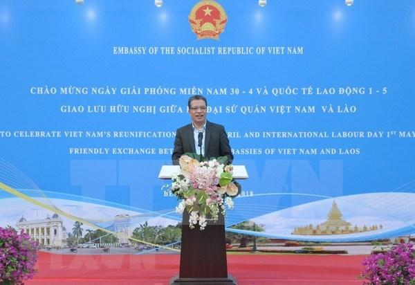 越南解放南方、国家统一43周年纪念活动在中国和莫桑比克举行 hinh anh 1