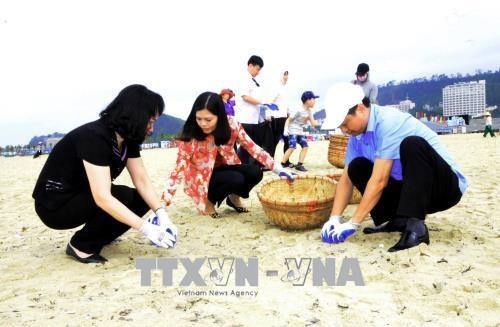 广宁省启动下龙湾海滩清洁活动 hinh anh 2