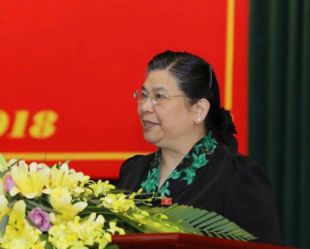 越南国会副主席丛氏放赴山萝省开展接待选民活动 hinh anh 1