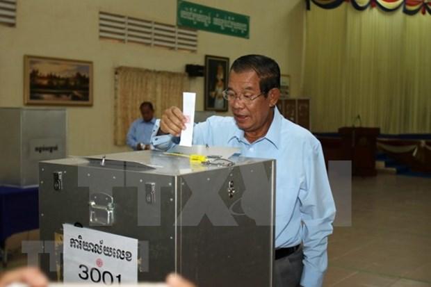 柬埔寨人民党和青年党注册参加第六届国会选举 hinh anh 1