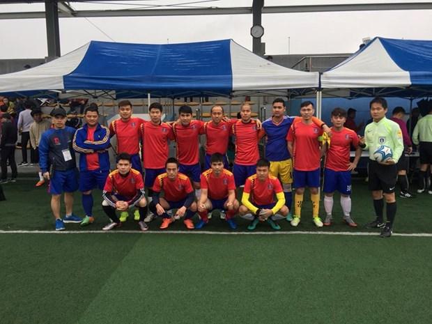 旅居韩国越南人协会第一次体育交流活动开幕 hinh anh 1
