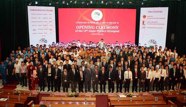 第十九届亚洲物理奥林匹克竞赛在河内开幕 hinh anh 2