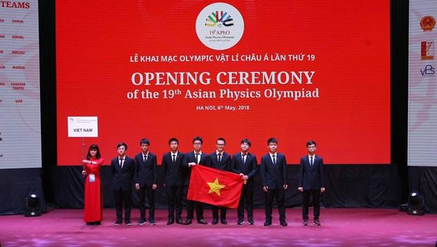 第十九届亚洲物理奥林匹克竞赛在河内开幕 hinh anh 1