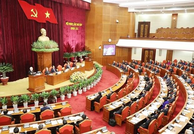越共十二届中央委员会第七次全体会第一天新闻公报 hinh anh 1
