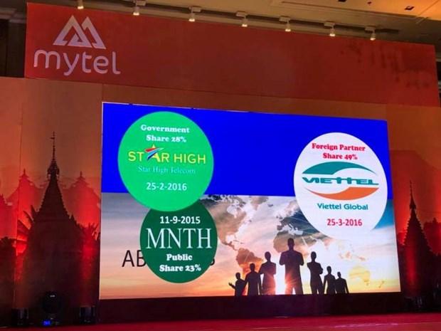 Viettel在缅甸新品牌Mytel即将开业 hinh anh 1