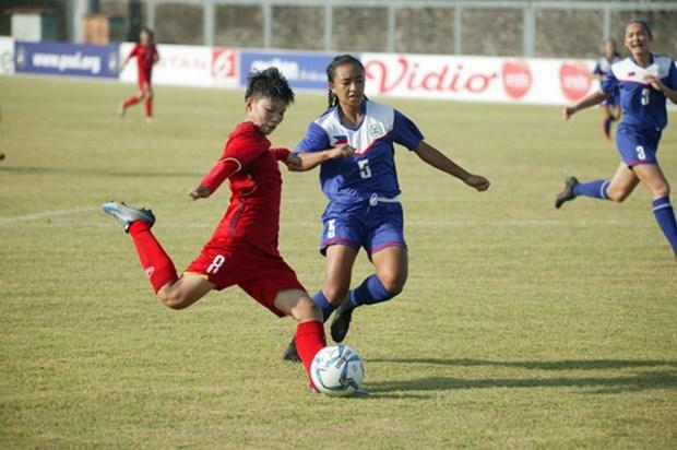 2018年东南亚U16女足锦标赛:越南队大胜 hinh anh 1