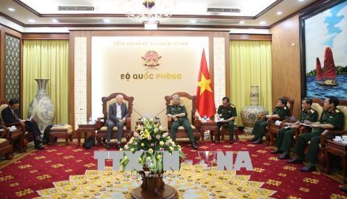 越南国防部副部长阮志咏上将会见国际战略研究所亚洲区执行长 hinh anh 1
