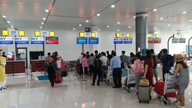越南平定省归仁市浮吉机场新航站楼正式投入运营 hinh anh 1
