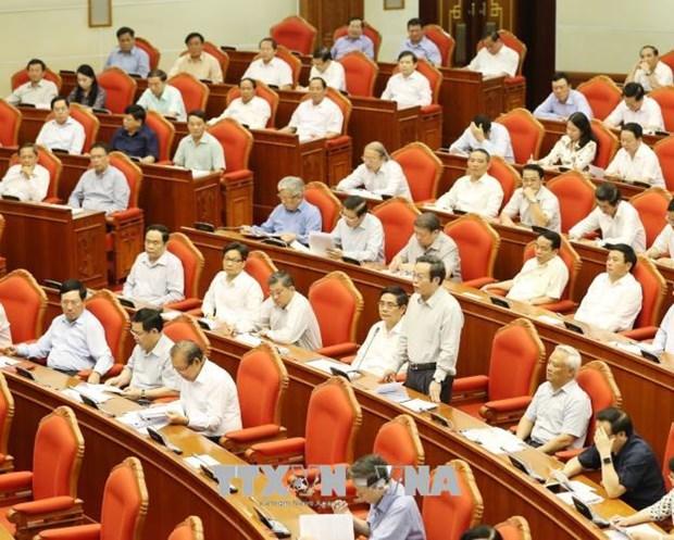 越共十二届七中全会就社会保险制度改革提案进行讨论 hinh anh 1