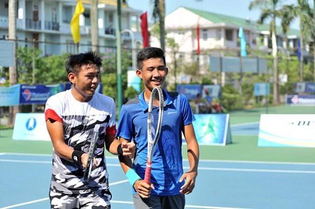 2018年越南男网F2未来赛:李黄南/阮文方晋级男双半决赛 hinh anh 1