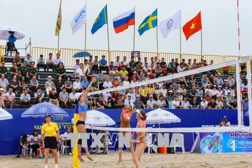 2018年世界女子沙滩排球锦标赛在广宁省下龙市巡州举行 hinh anh 1