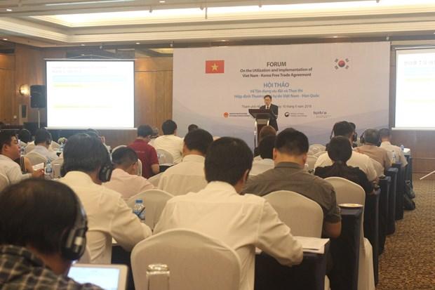 寻找措施充分利用《越南—韩国自由贸易协定》的税收优惠政策 hinh anh 1