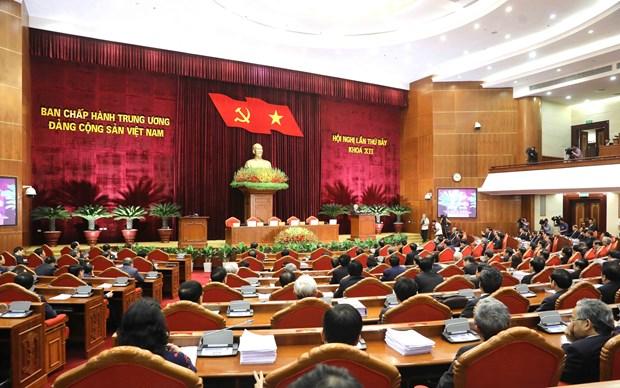 越共十二届中央委员会第七次全体会议闭幕并发表公报 hinh anh 1