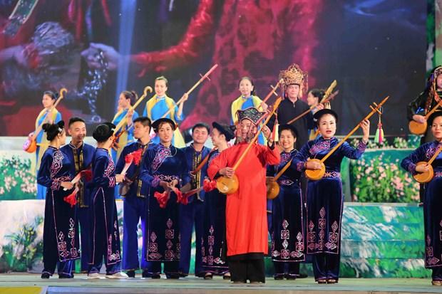 缤纷灿烂的2018年第六届全国天曲天琴艺术节在河江省举行 hinh anh 1