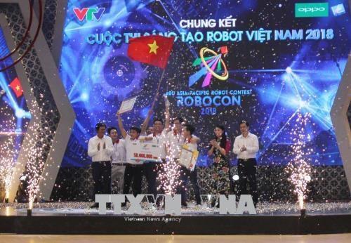 2018年越南机器人大赛总决赛:雒红大学LH-ATM队获冠军 hinh anh 1