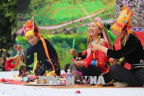 全国天曲天琴艺术节:14支艺术团陆续上演特色各特色节目 hinh anh 2