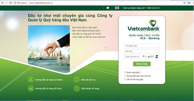 越南一些银行出现假冒网址 hinh anh 1