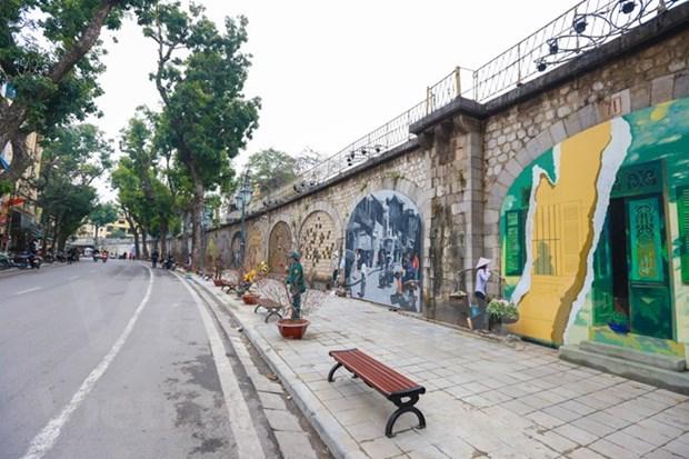 冯兴壁画街——唤醒一段有关河内的难忘回忆 hinh anh 3