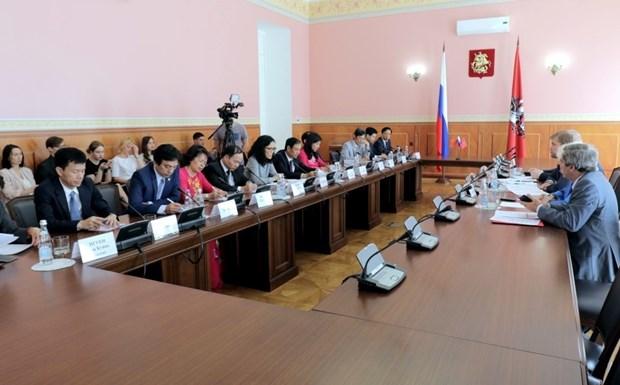 越南河内市与俄罗斯莫斯科进一步加强双边合作 hinh anh 1