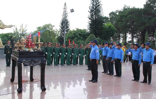 得乐省举行援柬牺牲的越南志愿军和专家烈士遗骸追悼会和安葬仪式 hinh anh 1
