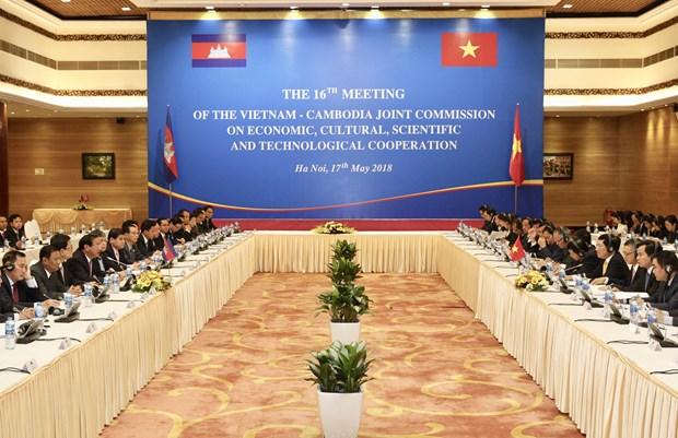 越南与柬埔寨经济文化科技混合委员会第16次会议在河内举行 hinh anh 1