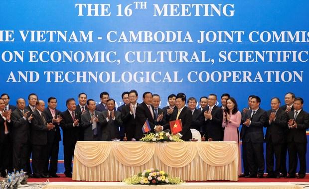 越南与柬埔寨经济文化科技混合委员会第16次会议在河内举行 hinh anh 3