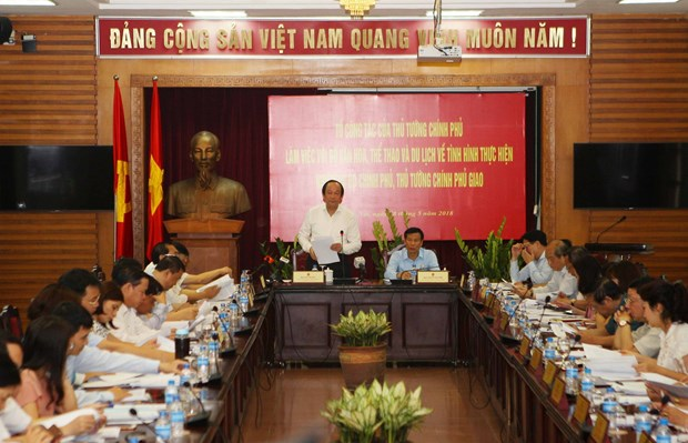 越南政府办公厅主任:文化体育旅游部应集中解决6个核心问题 hinh anh 1