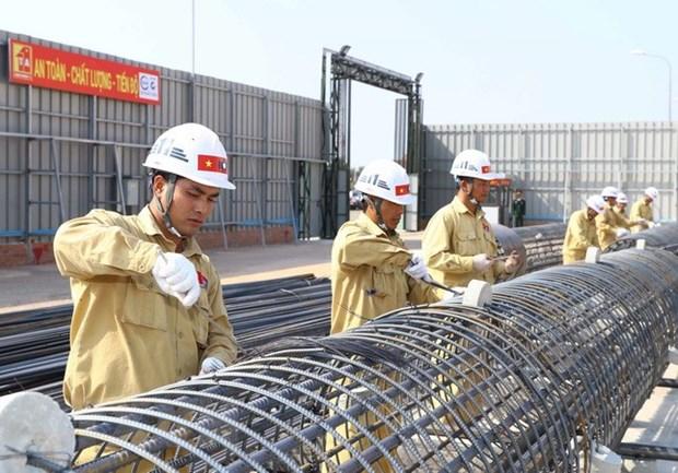 越南加快推进老挝国会大厦工程项目的建设 hinh anh 1