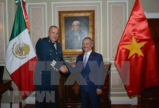 墨西哥国防部长:越南在建国卫国事业中为墨西哥树立了榜样 hinh anh 1