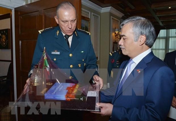 墨西哥国防部长:越南在建国卫国事业中为墨西哥树立了榜样 hinh anh 2