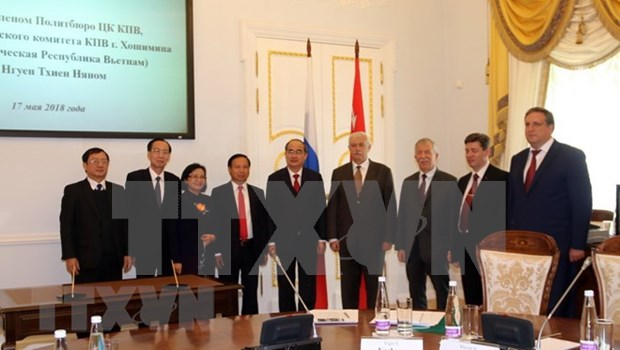 胡志明市与俄罗斯圣彼得堡市进一步加强合作关系 hinh anh 1