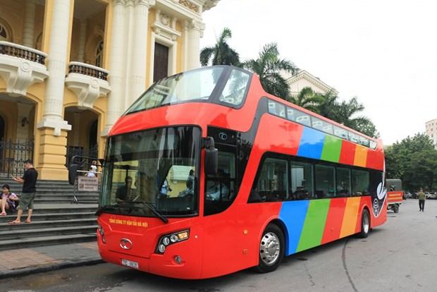 首都河内城市双层观光巴车将于5月底开通 hinh anh 1