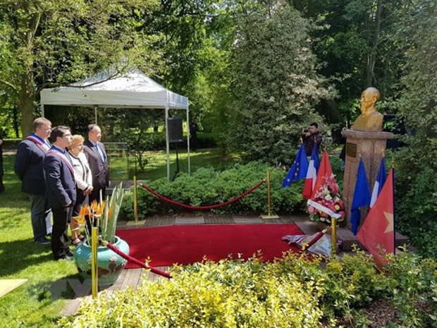 世界各地举行纪念胡志明主席诞辰128周年的活动 hinh anh 3