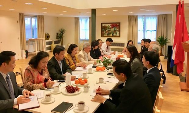 越共中央民运部代表团对荷兰进行访问 hinh anh 2