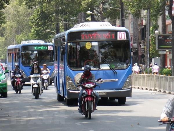 自7月1日起河内市将试点运行使用压缩天然气的公交车 hinh anh 1
