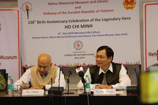 胡志明主席诞辰128周年纪念活动在印度多座城市举行 hinh anh 1