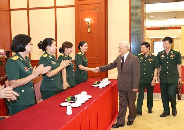 阮富仲:在反腐败反浪费斗争中,军队应发挥模范带头作用 hinh anh 2