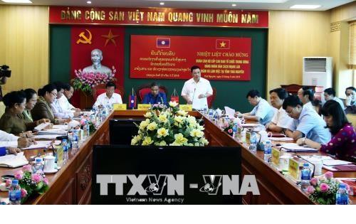 老挝人民革命党中央组织部高级代表团对太原省进行工作访问 hinh anh 1