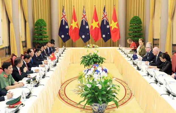 越南国家主席陈大光与澳大利亚总督彼得·科斯格罗夫举行会谈 hinh anh 1