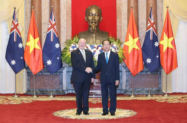 越南国家主席陈大光与澳大利亚总督彼得·科斯格罗夫举行会谈 hinh anh 2
