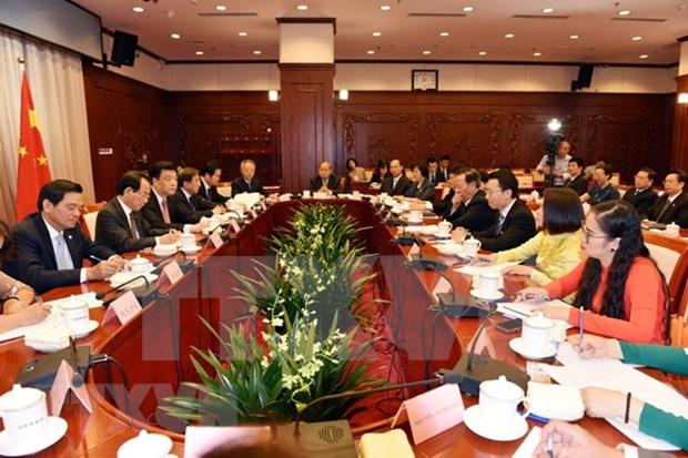 河内市加强与中国北京和上海两市的合作 hinh anh 1
